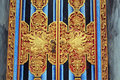 Mystical animals on Bali temple door detail Royalty Free Stock Photo