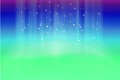Mystical background with stars and sparkles made of green blue Royalty Free Stock Photography