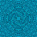 Mystical blue pattern with mandalas Royalty Free Stock Photo