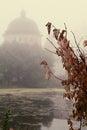 Mystické hmla cez voda