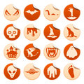 Mystical and horror stickers set of mysterious Royalty Free Stock Image
