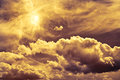 Mystical sky magic with stormy clouds Stock Image