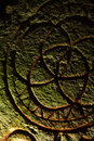Mystical stone inscription Royalty Free Stock Photo