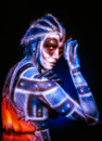 stock image of  Mystical surreal alien woman.
