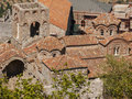 Mystras the historic city of in peloponnese Royalty Free Stock Photo