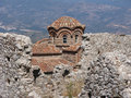 Mystras the historic city of in peloponnese Royalty Free Stock Photography