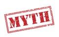 Myth red stamp Royalty Free Stock Photo