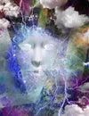 Mythical face artistic abstract composition Stock Photos
