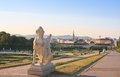 Mythical sphinx belvedere vienna austria view or Royalty Free Stock Photo