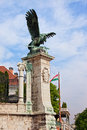 Mythical turul bird statue in budapest bronze from located next to the buda castle hungary Stock Photo