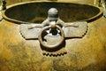 Mythical winged figures on bronze cauldron gordion civilization from kazan th c bce museum of anatolian civilization ankara turkey Royalty Free Stock Image