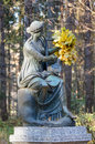 Mythological femail sculpture in Pavlovsk park Royalty Free Stock Photo