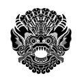 Mythological gods head, indonesian traditional art