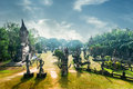 Mythology and religious statues at wat xieng khuan buddha park laos amazing panorama view of vientiane Stock Image