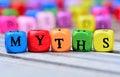 Myths word on table