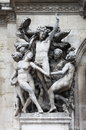Mytological statue in National Opera House of Paris Royalty Free Stock Photo