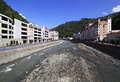 Mzymta River in Rosa Khutor Alpine Resort. Stock Photography