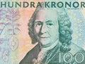 Nära look av kr för nominellt värdesvensk Arkivfoton