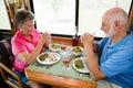 Nåd som säger pensionärer Arkivfoton
