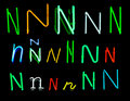 N Neon Letters Royalty Free Stock Photos