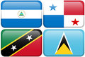 NA Buttons: Nicaragua, Panama, St Kitts, St Lucia Stock Photo