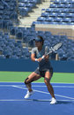 Na li de champion de grand chelem pratique pour l us open chez arthur ashe stadium chez billie jean king national tennis center Photos stock