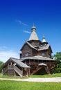 Na otwartym powietrzu muzeum antyczna drewniana architektura rosja vitoslavlitsy wielki novgorod russia church Zdjęcie Royalty Free