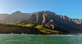 Na pali coast as seen from off shore Stock Photo