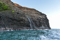 Na pali coast as seen from off shore Royalty Free Stock Photography