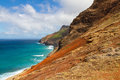 Na pali coast a scenic landscape view of the rugged of the on the hawaiian island of kauai Royalty Free Stock Photo