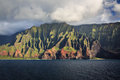 Na pali coastline kauai beautiful coast as seen from off shore Royalty Free Stock Photo