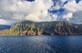 Na pali coastline kauai beautiful coast as seen from off shore Stock Photo