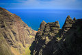Na pali coastline kauai beautiful on the hawaiian island of Stock Images