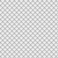 Naadloze cirkel zwart witte overzees shell geometric vector pattern voor backg Royalty-vrije Stock Foto