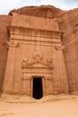 Nabatean tomb in madaîn saleh archeological site saudi arabia Royalty Free Stock Photography