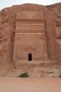 Nabatean tomb in Madain Saleh archeological site, Saudi Arabia Royalty Free Stock Photo
