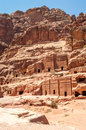 Nabatean tombs in ancient city petra Royalty Free Stock Photography