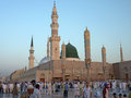 Nabawi mosque medina saudi arabia ksa september muslims get ready to pray inside september in ksa muslims gathered for Royalty Free Stock Images