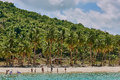 Nacapan beach palawan philippines april islands people playing on beaches between el nido and coron in Stock Photo