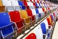 NACAR - colorful seats! Royalty Free Stock Photo