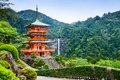 Nachi, Japan Pagoda and Waterfall Royalty Free Stock Photo