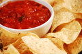 Nacho chips and salsa Royalty Free Stock Image
