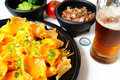 Nachos and Beer Royalty Free Stock Photography