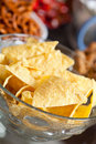 Nachos in a bowl Stock Images