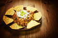 Nachos and chili con carne Royalty Free Stock Images