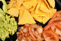 Nachos and dips Royalty Free Stock Photo