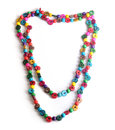 Nacklace photo of colorful fashionable necklace Royalty Free Stock Photography