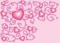 Nacreous hearts 5 Royalty Free Stock Photo