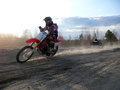 Nadim russia may unknown athlete participates in e extreme motorcross racing Stock Image