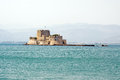 Nafplio the castle of bourtzi greece Royalty Free Stock Photography